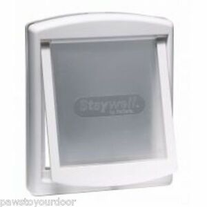 staywell petsafe 760 gro er hund t r 2 weg wei haustier. Black Bedroom Furniture Sets. Home Design Ideas