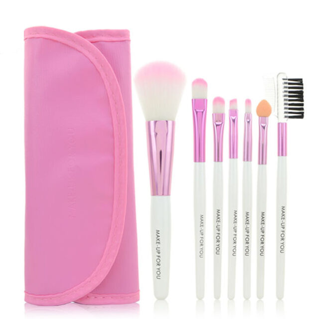 7pcs Professional Soft Cosmetic Makeup Brush Set Pink + Pouch Bag Case