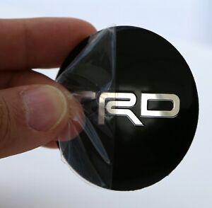 "(4 PACK) TRD Wheel Center Hub Cap Sticker Decal 2.20"" DOME SHAPE"