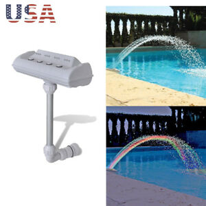 Details about Colorful Pool Accessory Lights Show Waterfall Fountain Above  Ground w/LED Light