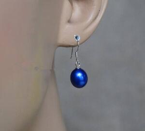 7-8-mm-blau-Suesswasser-Perle-Ohrringe