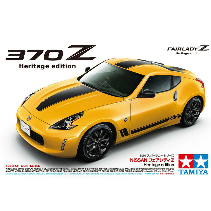 Tamiya Nissan 370Z Fairlady Z Heritage Edition Model Kit (Scale 1 24) 24348 NEW
