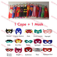 Superhero Cape for kids birthday party favors and ideas (1 cape+1 mask)!