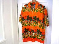 Men's India Boutique 100% Rayon Tropical Button Front Shirt Size Xl
