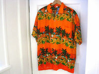 Men's India Boutique 100% Rayon Tropical Button Front Shirt Size Xl