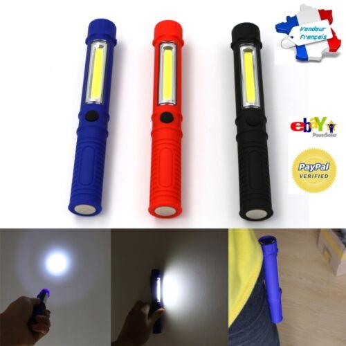 Baladeuse Lampe Torche de Poche Aimantée Ampoule Led Clip Ceinture Pointeur