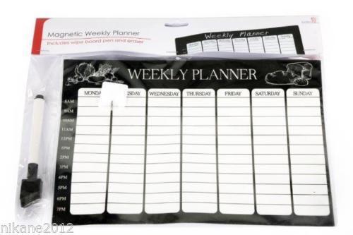 Magnetisch Wochenplaner Organizer Kalender Memoboard Wiederverwendbar Abwaschbar