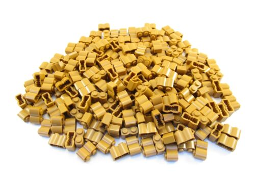 LEGO Medium Dark Flesh Brick Modified 1x2 Log Lot of 100 Parts Pieces 30136
