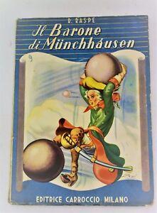 Il Barone Di Munchhausen 1951 Carroccio Serie Azzurra Tavole Illustrate Favola