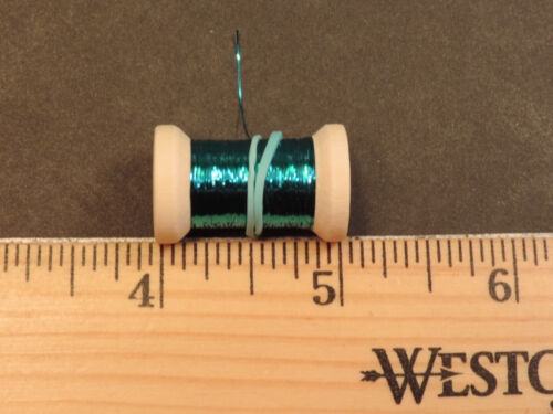 1 New Spool of Thin Flat TURQUOISE Tinsel or Flash 10 Yards
