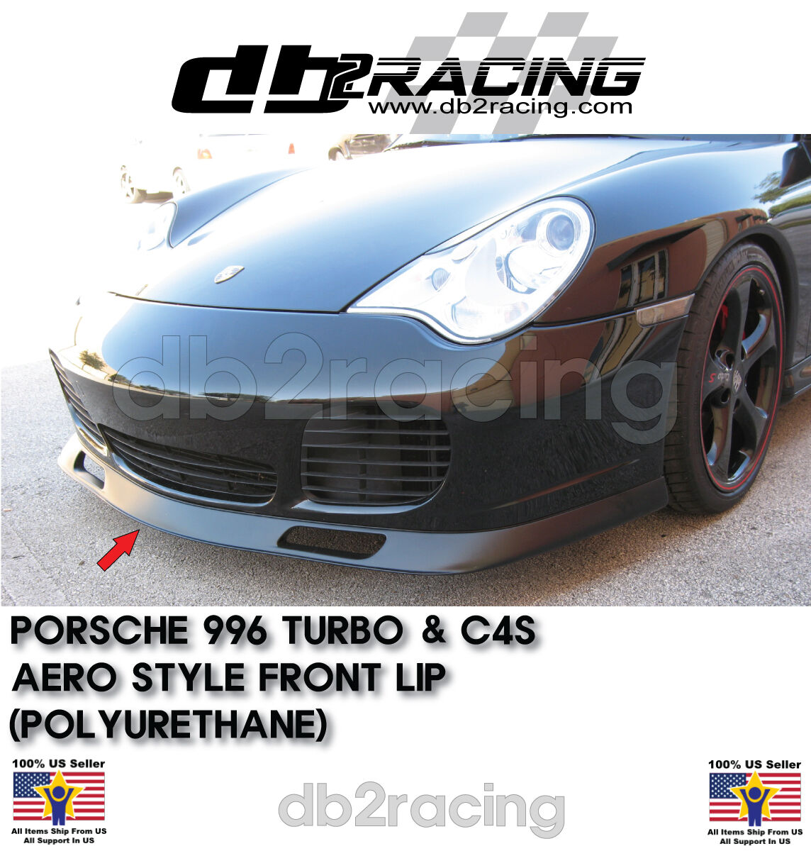 Urethane Fits 01-05 Porsche 911 Turbo OE Style Front Bumper Lip
