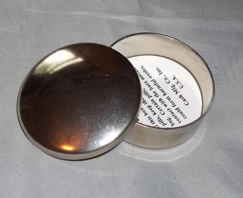 "Plain Nickel Silver Percussion Cap and Pill Box - Mountain Man /""USA/"""
