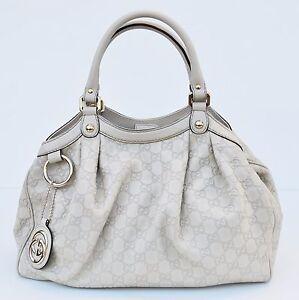 6f36974d81e0 Gucci Sukey Guccissima Tote, Off-White, Size Medium, MSRP $1,730 | eBay