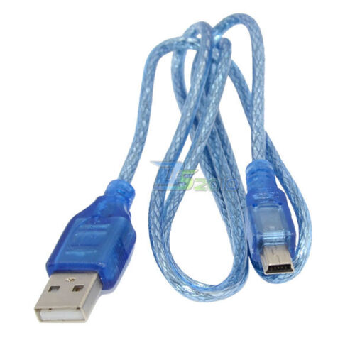 3ft USB 2.0 A Male to Mini 5 Pin Male Lead High Speed Extension Data Cable Cord
