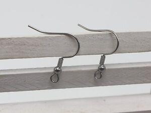 50-Pcs-316L-Stainless-Steel-Earring-Fish-Hook-Coil-Earwire-Ear-Wire-Jewelry-Find