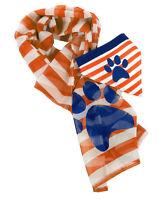 Orange Scarf Dog Owner Set Paw Print Stripes 20 X 70 Human Bandana