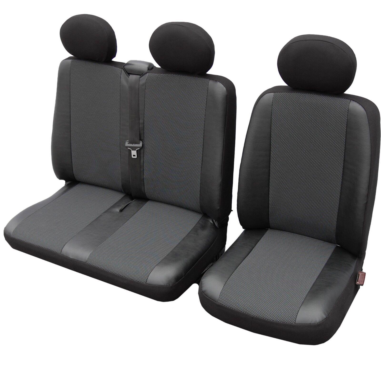 2 Bus Citroen Jumper Sitzbezüge Autositzbezüge Sitzbezug Kunstleder Elegance 1