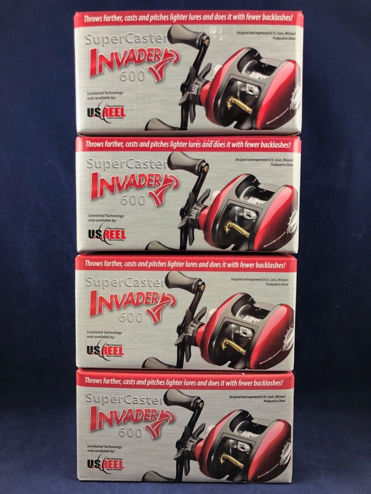 NEW  U.S. Reel - SuperCaster Invader 600 - Bait Casting Reel - Boxed - Lot of 4