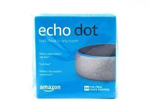 Amazon-Echo-Dot-3rd-Generation-Smart-Assistant-Heather-Grey-Fabric-Speaker-Alexa