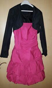 Festkleid Gr.32 Vera Mont Pink Mit Bolero Von C&a In Schwarz,jugendweihekleid Gesundheit FöRdern Und Krankheiten Heilen Brautjungfernkleider