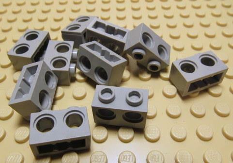 LEGO Parts~Technic, Brick 1 x 2 with Holes 32000 Lt Blueish GRAY 10