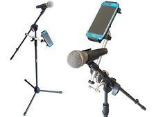 Mikrofonstativ mit Handy / Smartphone / Tablet Klemm-Halterung am Mikro-Ständer