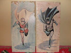 Batman & Robin Vintage, carton, lithographie, Davco / pèlerin, 1966