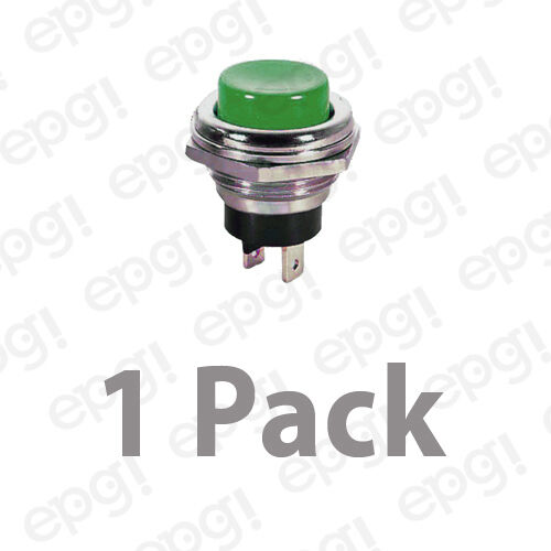 SPST MOMENTARY-OFF  GREEN PUSH BUTTON SWITCH 4AMPS @ 125VAC #66-2426-1PK N//C