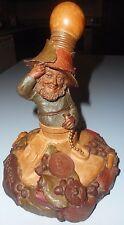 Tom Clark 1989 Edison Gnome Elf Leprechaun Peacan Resin Statue