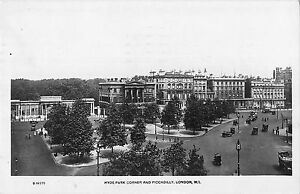 BR93746-hyde-park-corner-and-piccadilly-london-real-photo-uk