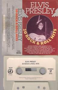 ELVIS-PRESLEY-20-rock-amp-roll-hits-RARE-cassette-WITH-PAPER-LABEL