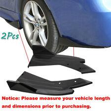 2x Car Rear Bumper Lip Side Splitter Diffuser Spoiler Body Kit Glossy Black Fits Toyota Yaris