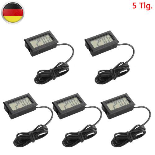 5×LCD Mini Digital Hygrometer Thermometer Luftfeuchtigkeit Feuchtemesser Indoor