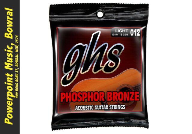 GHS S325 Phosphor Bronze Acoustic Guitar Strings - Light 12-54! RRP $16.99