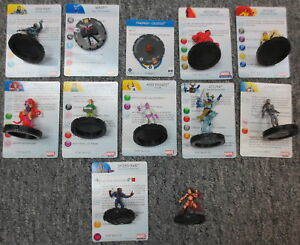 Lot-of-12-Marvel-Comics-Heroclix-Figures-and-Cards-Collection