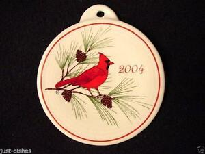 2004-Fiesta-WHITE-Post-86-CARDINAL-Holiday-Ornament