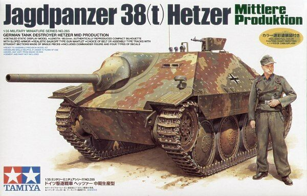 Tamiya 1 35 Hetzer Mid Production Plastic Model Kit