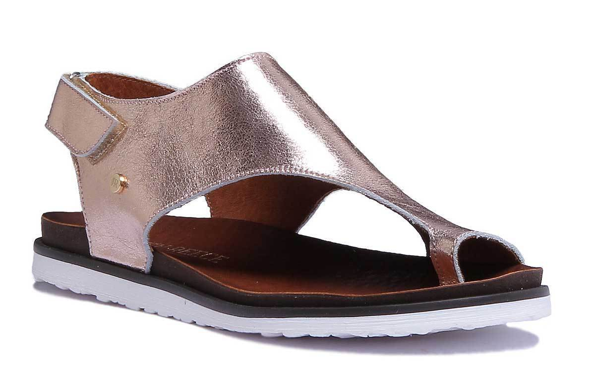 Justin Reece 7220 femmes Rose or Leather Matt Sandal Taille UK 3 - 8