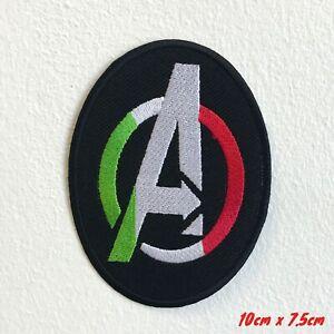 Super-Heros-Avengers-un-Badge-Logo-Noir-Brode-Patch-a-Coudre-1579