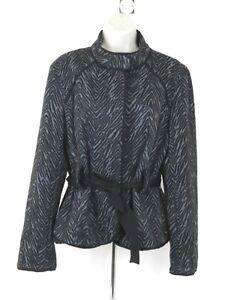 Sportswear Sandro Gray Career Blazer Women's Jacket Blackamp; Belted QrsCothBdx