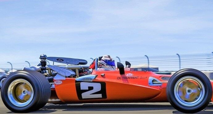 Vintage Racer Rare 1960s Indy 500 Race Car 1 18 Carousel orange Mario Andretti