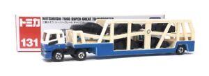 Tomica-maqueta-de-coche-camiones-n-131-Mitsubishi-Fuso-super-coche-Transporter-Takara-Tomy