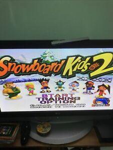 Snowboard Kids 2 para el ex-Alquiler N64 mal estado probado y funciona
