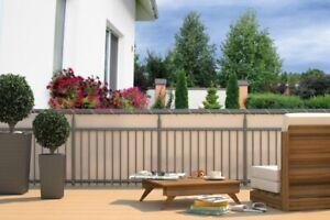 Balkon Sichtschutz - Sichtschutzplane für Balkon Geländer Markiese Sonnenschutz