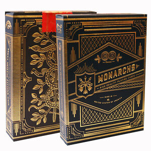 Monarch-Playing-Cards-Blue-Green-Red-amp-Purple-Theory-11-Luxury-Card-Deck