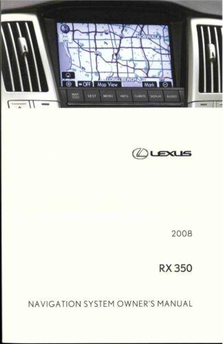 Car Manuals & Literature Vehicle Parts & Accessories 2008 Lexus RX ...