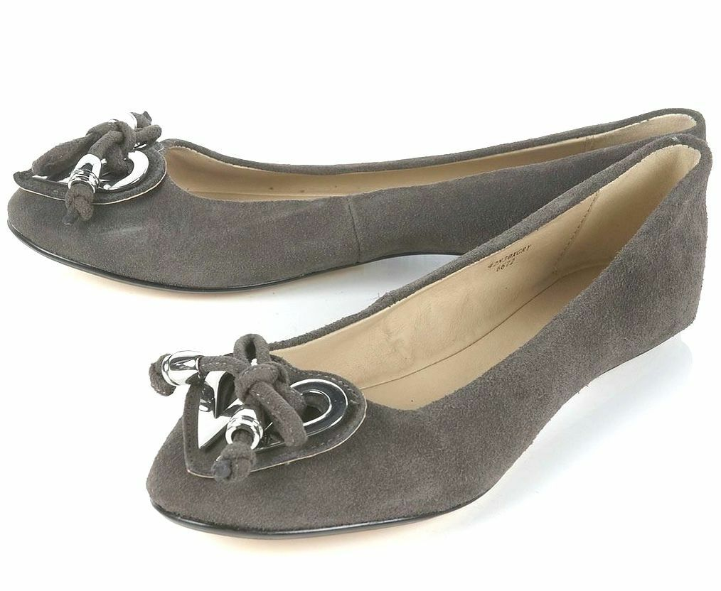 TOPSHOP GREY GENUINE SUEDE LEATHER HEART DETAIL PUMPS FLAT SHOES SHOES SHOES NEW 32f751