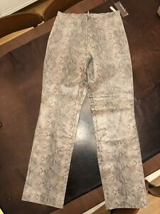 pelle in marrone in Brandon pelle stampa serpente 11 taglia Pantaloni Thomas RnSxx