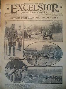 WW1-N-2048-ASSAUT-VERDUN-DECORATION-AILES-FRANCAISES-AMBULANCIER-EXCELSIOR-1916