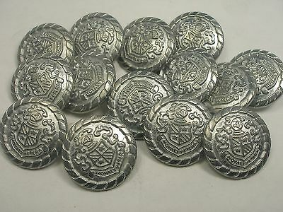 New Lots of Silver Metal Buttons Fancy Pattern sizes 13//16 11//16 5//8 1//2  #SC